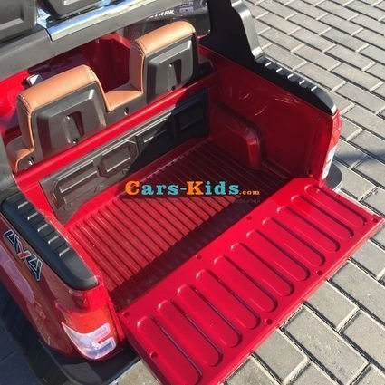 Электромобиль Ford Ranger F650 4WD красный (2х местный, колеса резина, сиденье кожа, пульт, музыка)